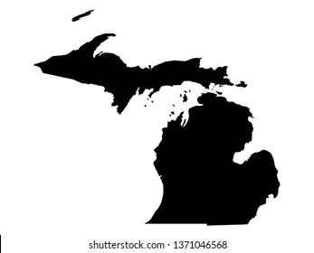Vector illustration of Michigan map