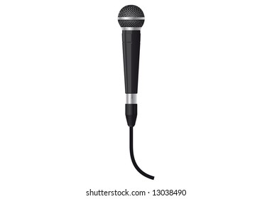 Vector illustration of a microphone.