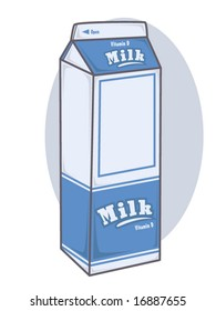 vector illustration of a milk container
