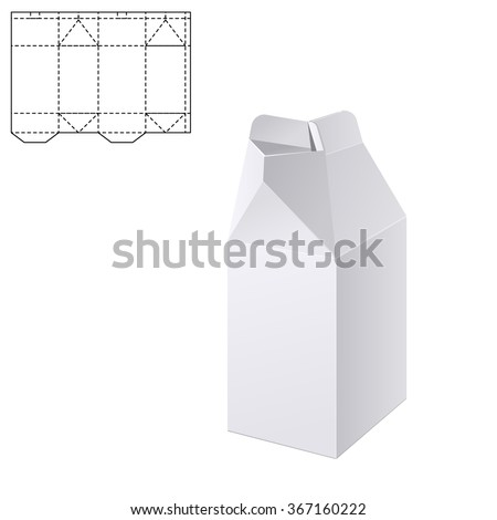 Vector Illustration Of Milk Or Juice Craft Box For Design Website Background Banner