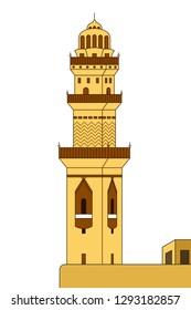 A vector illustration of Minaret Tower