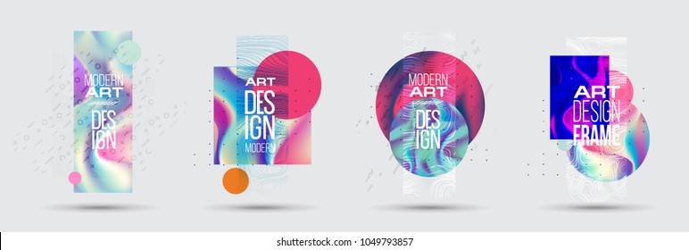 vector illustration. Minimalist frame design in the style of hipster. Vector gradient holography. frame for text Modern art graphics. design of business cards, invitations, gift cards, leaflets, broch