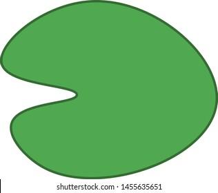 Vector illustration of a minimalist lily pad.
