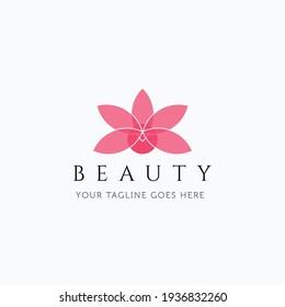 Vector illustration of minimalist lotus flower good for spa and beauty logo design