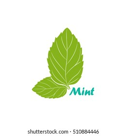 Vector illustration of mint symbol
