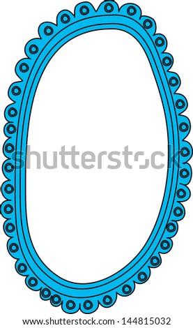 Vector Illustration Mirror Stock Vector Royalty Free 144815032