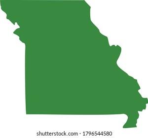 vector illustration of Missouri map
