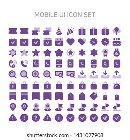 Vector illustration of mobile-ui icons for Mobile, interface, mobile ui, mobile site, mobile icon, flat icon, coupon, discount, bargain, mileage, ticket, firecracker, celebration, festival, gift, gift