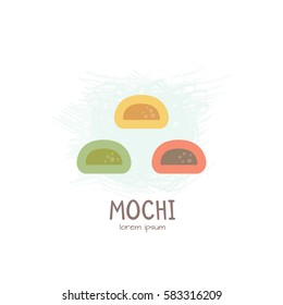 Vector illustration of Mochi - japanese dessert.All elements are conveniently grouped and easily editable
