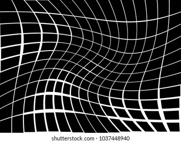 Vector illustration, modern abstract halftone backdrop in white and black tones with squares in pop art style, monochrome background for business card, website, interior design