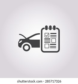Vector illustration of modern auto repair icon