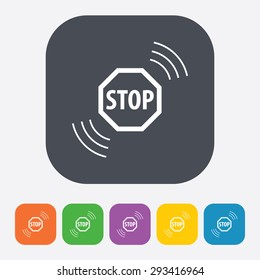 vector illustration of modern b lack icon stop