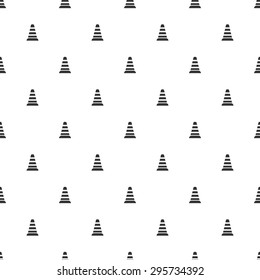 vector illustration of modern b lack icon traffic cone