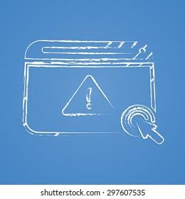 vector illustration of modern b lack icon virus