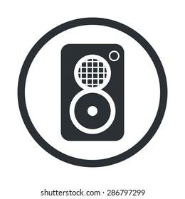 vector illustration of modern black icon subwoofer