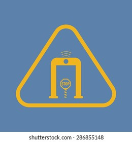 vector illustration of modern black icon detector