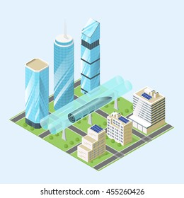 Vector illustration of modern city.