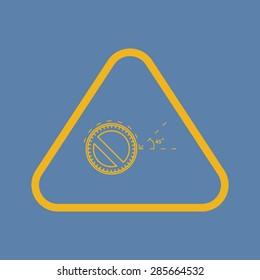 Vector illustration of modern education icon