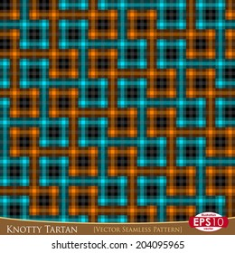 "Vector illustration of modern fabric ""TARTAN"" seamless pattern. With high detail made fabric texture."