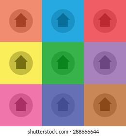 vector illustration of modern icon arrow