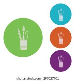 vector illustration of modern icon art brush
