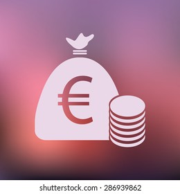 vector illustration of modern icon bank bag