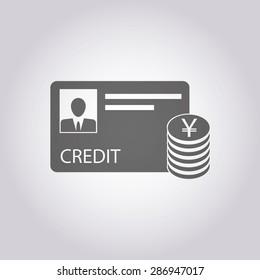 vector illustration of modern icon bank card