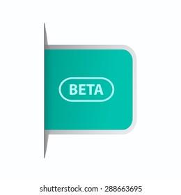vector illustration of modern icon beta