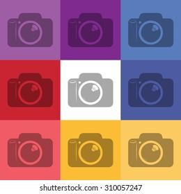 vector illustration of modern icon camera