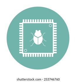 vector illustration of modern  icon cpu