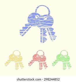 vector illustration of modern icon key