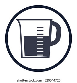 vector illustration of modern icon measuring cup
