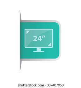 vector illustration of modern icon monitor