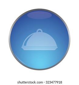 vector illustration of modern icon restaurant