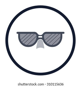 vector illustration of modern icon sunglasses