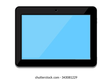 A vector illustration of a modern mobile device. Generic Tablet icon illustration. Blank flat screen tablet wireless device,