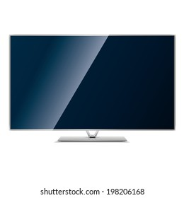 vector illustration modern monitor, computer on a white background