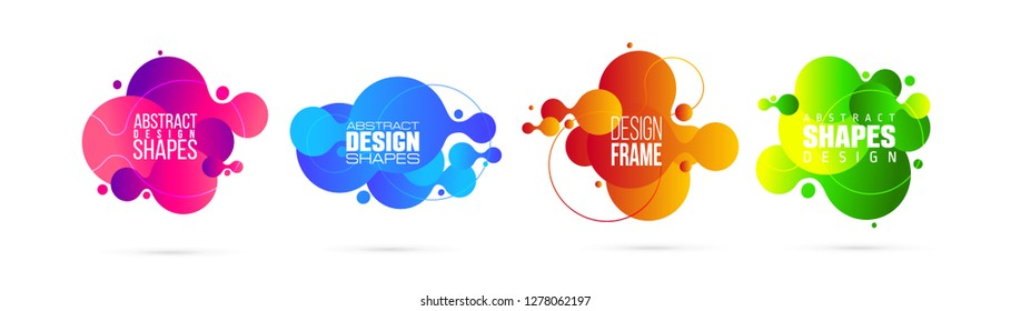 vector illustration. modern organic liquid. graphic frame design for text. element for design business cards, invitations, gift cards, flyers and brochures