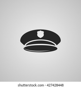 vector illustration modern police of hat icon