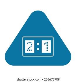 vector illustration of modern silhouette icon score