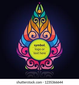 Vector illustration, modification of wayang gunungan, or symbol of the tree of life.