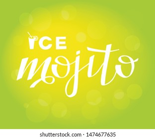 Vector illustration of mojito for bar, restaurant, cafe menu. Mojito for decoration labels, cards, photos from the rest. Mojito to design an invitation to a party.