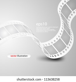 Vector illustration Monochromatic wave film strip - eps10