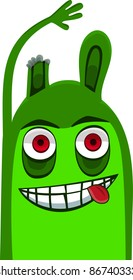 A vector illustration of a monster. Can be recolored or scaled without problems and quality loss