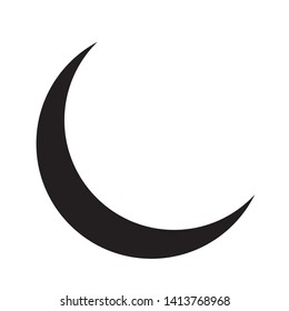 Vector illustration of moon crescent