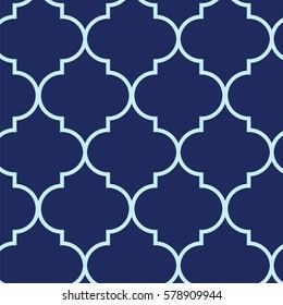 Vector illustration of moroccan trellis pattern