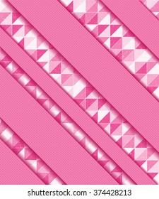 Vector illustration with mosaic, ribbons.