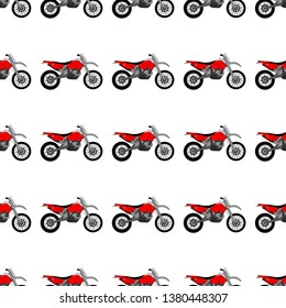 Vector illustration of a motorcycle pattern. Print for t-shirts, cups, covers.