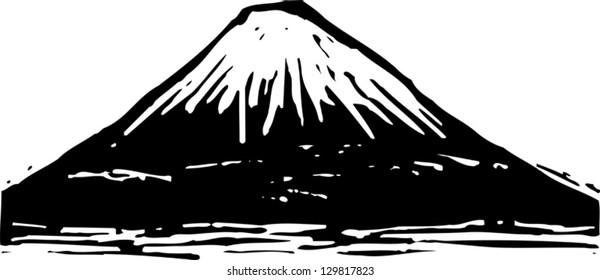 Vector illustration of Mount Fuji