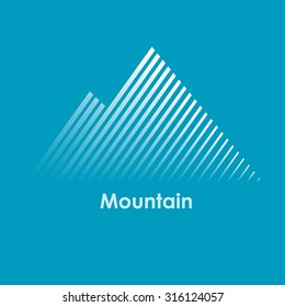 vector illustration of mountain, mountain logo, mountain design, mountain concept, line mountain